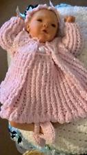 Reborn Doll  or Baby Crochet Dress & Coat Set, Shoes & Headband CUSTOM