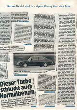 Saab 99 GL 900 Gli turbo Prospekt Presse 1983 brochure Auto PKWs Schweden Europa
