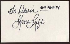 Lorna Luft  Signed Index Card Signature Vintage Autographed AUTO