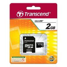 Transcend 2GB Micro Sd Tarjeta de Memoria para JVC Cámara Vídeo Digital