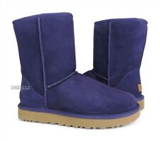 UGG Classic Short II Nightshade Suede Fur Boots Womens Size 8 *NIB*