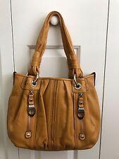 B. Makowsky Durango Pebble leather medium tote bag - Saffron yellow color