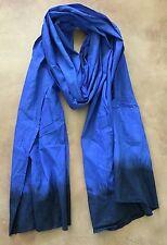 Long Tuareg Scarf- Moroccan Berber Handmade Ethnic Turban Unisex Adult Rich Blue