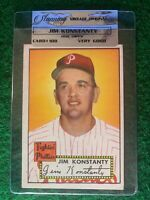 1952 Topps Baseball Card #108 JIM KONSTANTY Red Back - VG/VG+  C4RD5