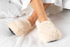 Cozy Plush Slippers Microwaveable Warm Soft Fluffy Comfort UK Size 3-7