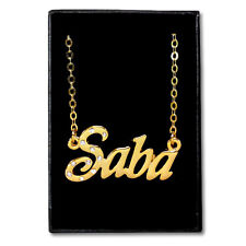 Gold Plated Name Necklace - SABA - Gift Ideas For Her - Personalized Name Chain