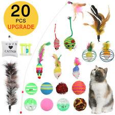 20Pcs Pet Cat Toys Set Bulk Mice Balls Pet Kitty Kitten Play Ball Toy Set