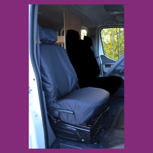 Renault Master 2010+ Tailored Waterproof Driver Seat Cover Black