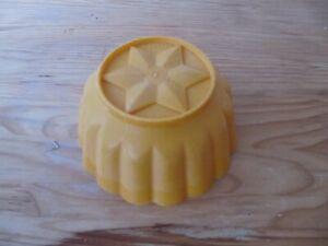 Dr. Oetker Puddingform Form Plastik gelb14 cm Space Age 60er 70er Jahre rar
