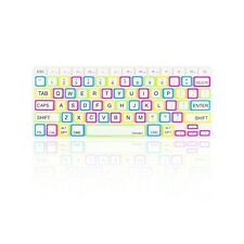 """CANDY WHITE Silicone Keyboard Cover Skin  for Macbook Pro 13"""" 15"""" 17"""" Retina"""
