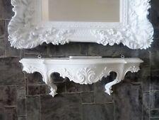 Consola de Pared Barroco Blanco Antiguo Colgar en la Rococó 49cm Shabby Estante