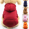 Dogs Clothes Sports Sweater Warm Soft Hoodie Jumper Coat Cat Pet Costume Apparel
