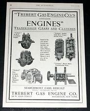 1905 OLD MAGAZINE PRINT AD, TREBERT GAS ENGINE CO, 2 CYL ENGINES, TRANSMISSIONS!