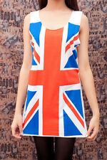 QUEEN British Union Jack Flag POP ART WOMEN T-SHIRT Tank TOP Dress Size S M