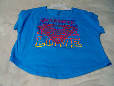 Super Girl Women's Juniors Size Large (11/13) Super Girl & Love Written Front