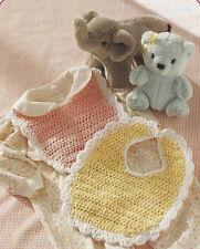 Crochet Pattern ~ SCALLOP EDGE BABY BIB ~ Instructions