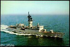 USS Joseph Hewes FF-1078 postcard  US Navy ship  Fast Frigate (cd2)