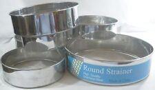 Set 6 Tamis Ronds à Farine Différents Diamètres Inox Cuisine Gâteaux Pâtisserie