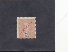 PORTUGUESE INDIA 2 1/2 r. LOCALLY SURCHARGED (1914) AF # 274
