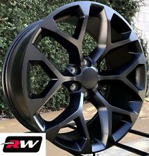 "20"" inch 20 x9"" Wheels for Chevy Avalanche Satin Black Rims CK156"