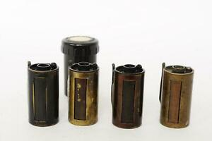 lot of 4x untested reloadable Leica Leitz film canisters / containers #1