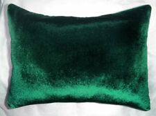 Dark Green Velvet Throw Pillow size 16x12 New, Soft. Ameynra home decor