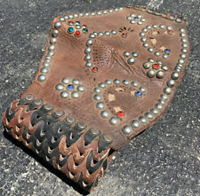Vintage 1940s-50 Leather Motorcycle Studded Kidney Belt Motorcycle Harley Indian