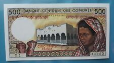 1984 Comoros 500 Francs GEM UNC <P-10a>