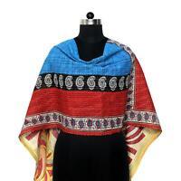 Vintage Kantha Scarf Cotton Dupatta Neck Wrap Women Indian Hand Quilted Bandana