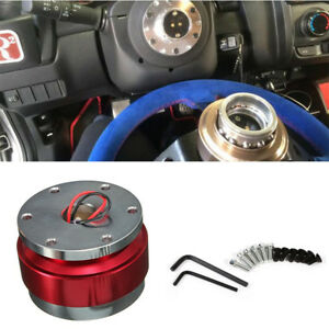 Durable Aluminium Car Steering Wheel Quick Release HUB Adapter Snap Off Boss Kit