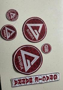 NEW Gracie Barra Patches Kit/SET BJJ GI Embriodered Patches GB GI Patches sets
