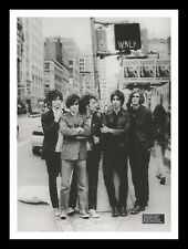 More details for framed & mounted the strokes music band original promo poster print a4