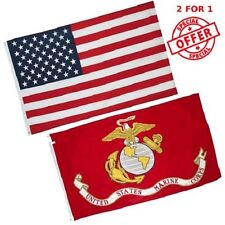 Wholesale LOT 3X5FT USA AMERICAN Flag & US MARINE CORPS EAGLE GLOBE ANCHOR FLAG