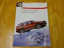 1994 Vauxhall Frontera Glacier Brochure