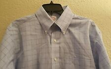 Brooks Brothers Mens Long Sleeve Button Down Shirt Plaid Size 15 1/2