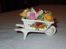 Old Country Roses Royal Albert Flowers in Wheelbarrow