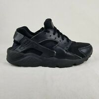 Nike Air Huarache Run Triple Black Running US Size 7Y Youth Shoes 654275-016