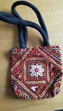 Embroidered red hand bag handbag from India. Souvenir. Hippy Boho