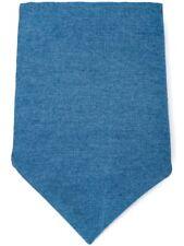 Brunello Cucinelli Bleu Chambray Coton Mouchoir / Poche Carré