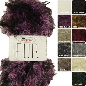 King Cole Luxury Fur Knitting Yarn 100g - All Shades