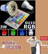 FARETTO LED LUCE RGB PROGRAMMABILE EFFETTI E MULTICOLORE GU10 3W CON TELECOMANDO