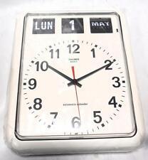 vintage reloj mural original años 80 Twemco Flip Wall Clock NEW, bq12a fase lamp