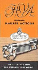 Husqvarna 1953 Improved Mauser Actions Flyer (Sweden)