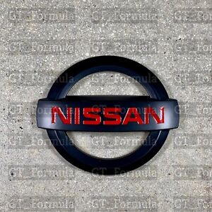Nissan 350Z 370Z 2003-2008 JDM BLACK RED NISMO FRONT EMBLEM MATTE NEW