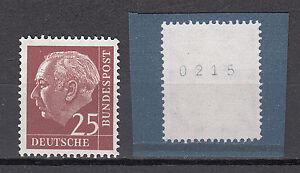 BRD 1954 Mi. Nr. 186 x W w R Postfrisch Rollmarke mit Nr. TOP!!! (20040)