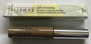 Clinique Just Browsing Brush On Styling Mousse Blonde 01 .07 oz Brand New In Box
