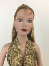 Rare early Precious Metal Tyler gold sequin gown fully dressed Sydney Tonner