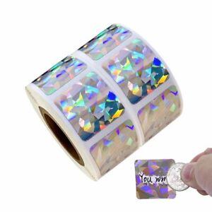 Scratch Off Sticker Custom Game Party Scratch Win Square Hologram 30pcs 20x20mm