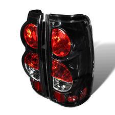 For Chevrolet Silverado GMC Sierra Black Housing Clear Lens Tail Lights Lamps