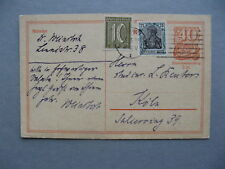 GERMANY INFLATION, uprated prestamped PC (card) 25-03-1922, total 1,25